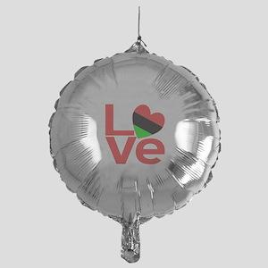 African American LOVE Mylar Balloon