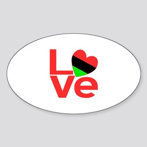 African American LOVE Sticker (Oval)
