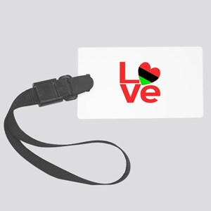 African American LOVE Large Luggage Tag