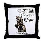 The Geek God's Throw Pillow