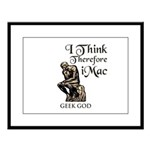 The Geek God's Large Framed Print