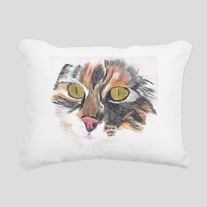 Beautiful Calico Cat Rectangular Canvas Pillow