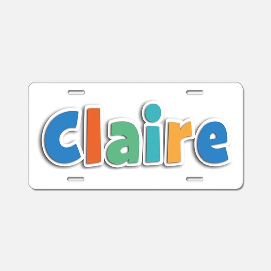 Claire Spring11B Aluminum License Plate