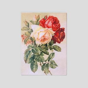 Three Roses 5'x7'Area Rug