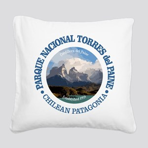 Torres del Paine NP Square Canvas Pillow