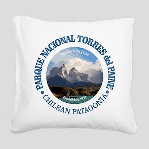 Torres del Paine NP Square Canvas Pillow