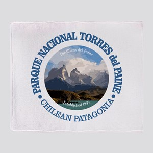 Torres del Paine NP Throw Blanket