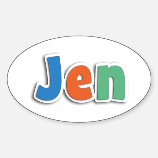 Jen Spring11B Oval Decal