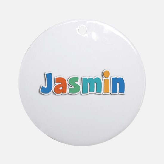 Jasmin Spring11B Round Ornament