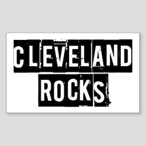 Cleveland Rocks Sticker (Rectangle)