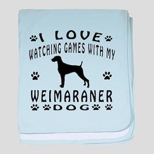 Weimaraner design baby blanket