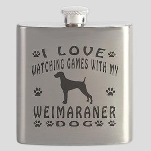 Weimaraner design Flask