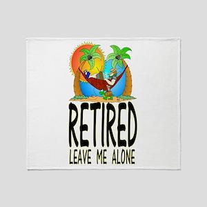 retired Throw Blanket