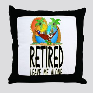 retired Throw Pillow