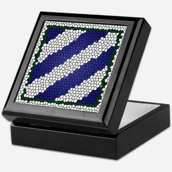 3ID Tile Pattern Logo Keepsake Box