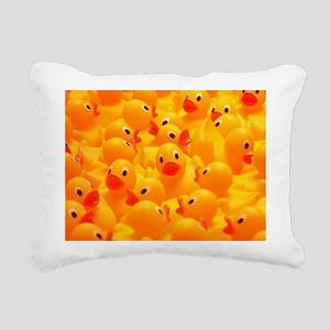 Rubber Duckies Rectangular Canvas Pillow
