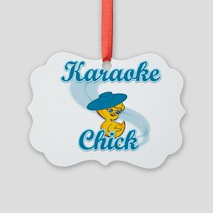 Karaoke Chick #3 Picture Ornament