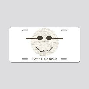 Happy Camper Aluminum License Plate