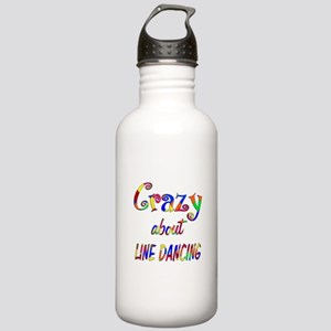 Crazy About Line Dancing Stainless Water Bottle 1.