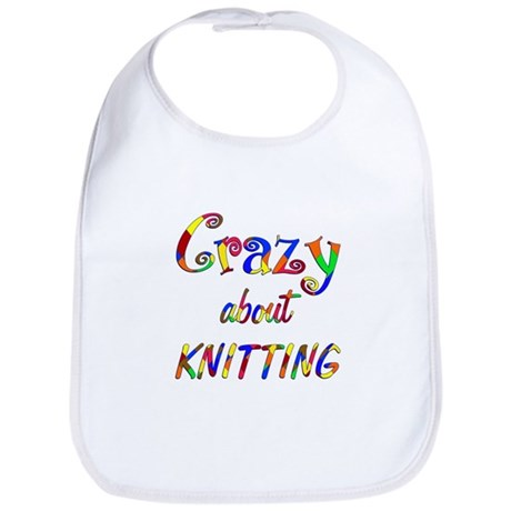 Crazy About Knitting Bib