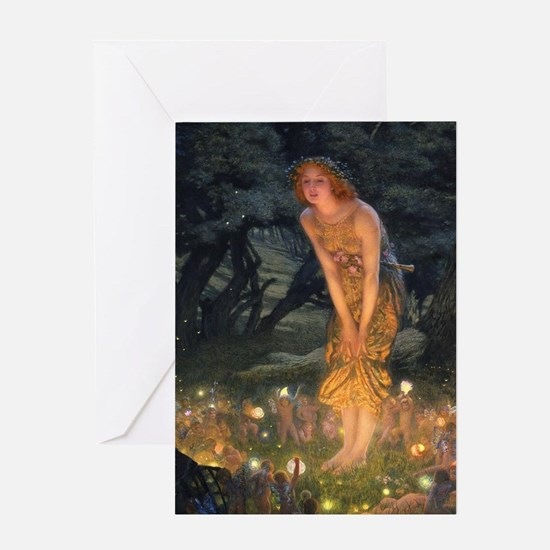 Midsummers Eve Fairy Dance Greeting Card