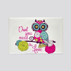Owl you need is love Rectangle Magnet