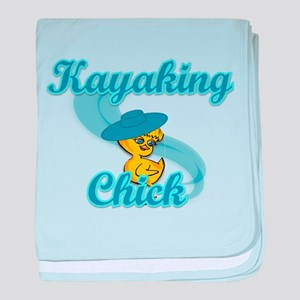 Kayaking Chick #3 baby blanket