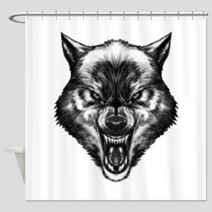 Angry wolf Shower Curtain