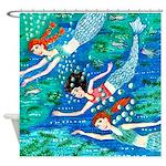 Mermaid Race Shower Curtain