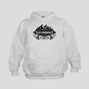 Steamboat Mountain Emblem Kids Hoodie
