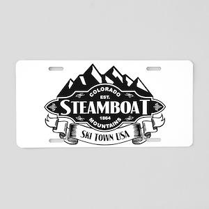 Steamboat Mountain Emblem Aluminum License Pla