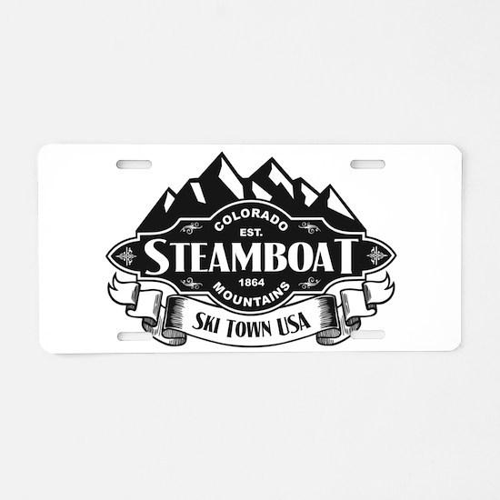 Steamboat Mountain Emblem.png Aluminum License Pla