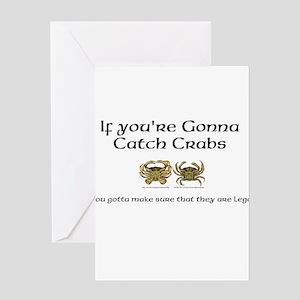 Crabbing Greeting Card