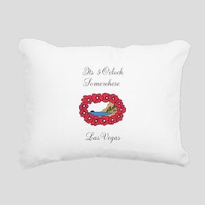 5 OClock Rectangular Canvas Pillow
