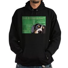 Got Entlebucher? Woof Cloud Green Hoodie (dark)