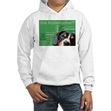 Got Entlebucher? Woof Cloud Green Hooded Sweatshir