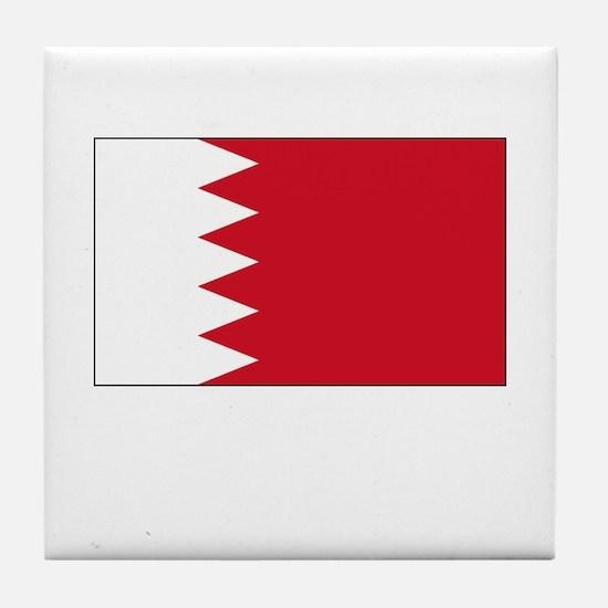 Bahrain Flag Picture Tile Coaster