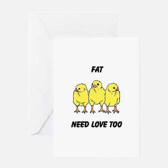 Fat Chicks Greeting Card