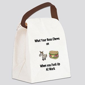 Ass Sandwich Canvas Lunch Bag