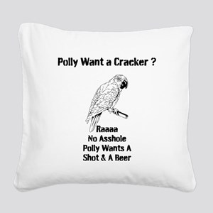 Polly Square Canvas Pillow