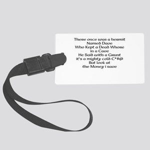Hermit Large Luggage Tag
