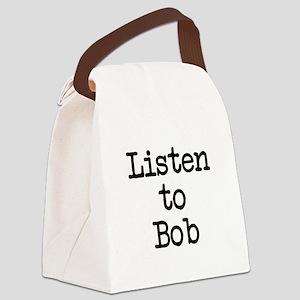 Listen to Bob Canvas Lunch Bag
