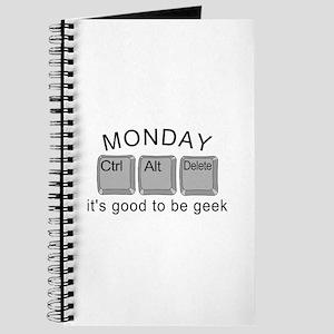 Monday Geek Computer Keys Journal