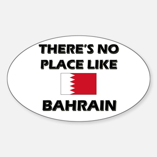 There Is No Place Like Bahrain Oval Decal