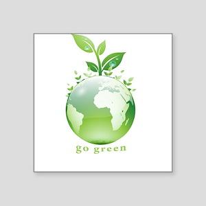Green World Rectangle Sticker