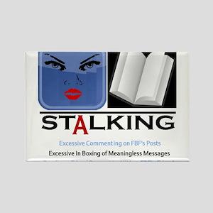 Facebook Stalking Rectangle Magnet