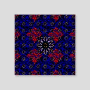 "Acuatic-flowers Square Sticker 3"" x 3"""