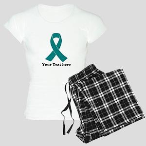 Teal Ribbon Awareness Women's Light Pajamas