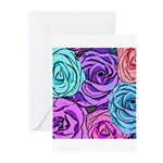 Abstract Colorful Roses Greeting Cards (Pk of 20)