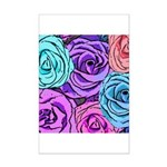 Abstract Colorful Roses Mini Poster Print